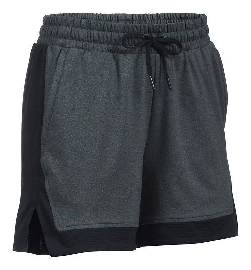 Womens Under Armour Sport Lined Shorts - Heather/Black S