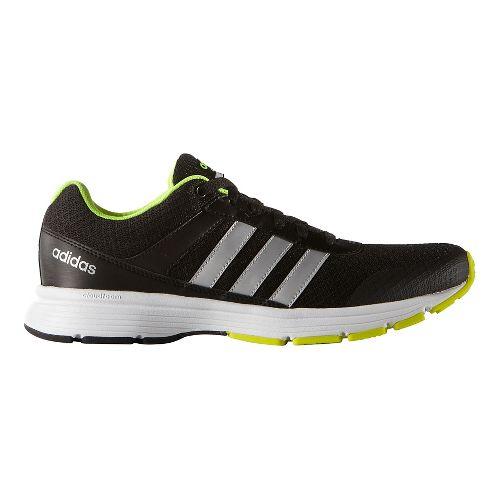 Mens adidas Cloudfoam VS City Casual Shoe - Black/Silver/Yellow 10