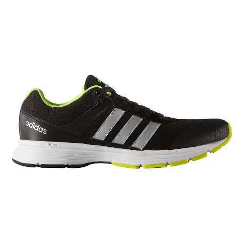 Mens adidas Cloudfoam VS City Casual Shoe - Black/Silver/Yellow 9.5