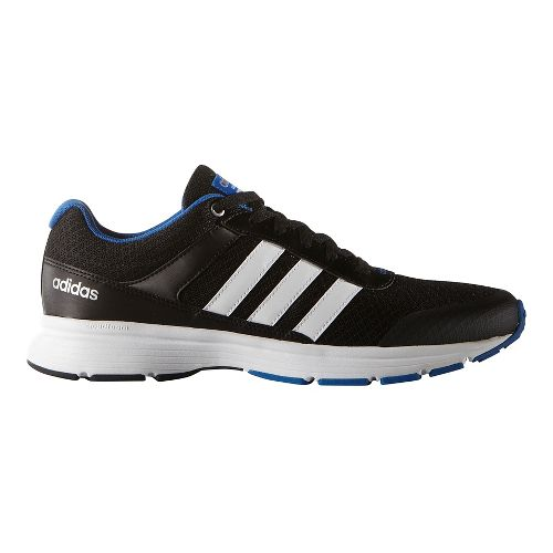 Mens adidas Cloudfoam VS City Casual Shoe - Black/White/Blue 7.5