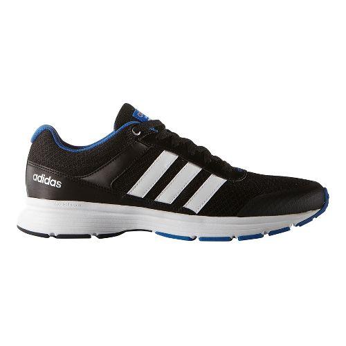 Mens adidas Cloudfoam VS City Casual Shoe - Black/White/Blue 8.5