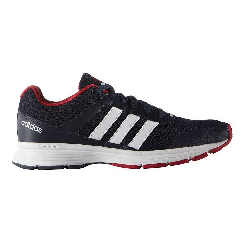 Mens adidas Cloudfoam VS City Casual Shoe - Navy/White/Red 7.5