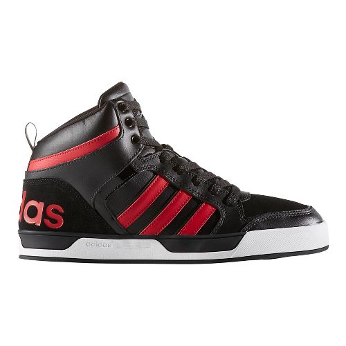 Mens adidas Raleigh 9TIS Mid Casual Shoe - Black/Red 11.5