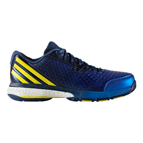 Mens adidas Energy Volley Boost 2.0 Court Shoe - Blue/Yellow 10.5
