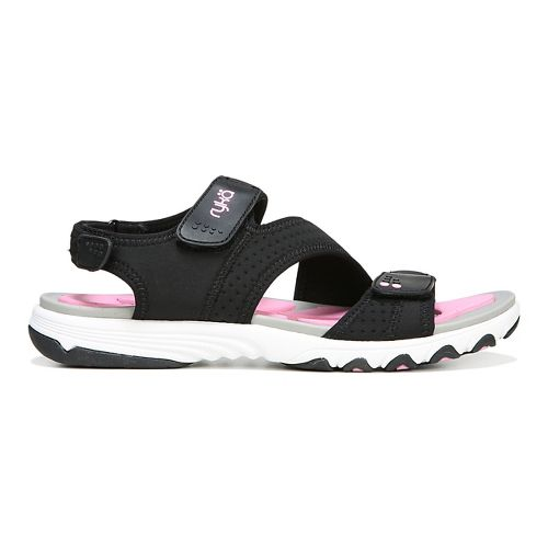 Womens Ryka Dominica Sandals Shoe - Black/Pink 9