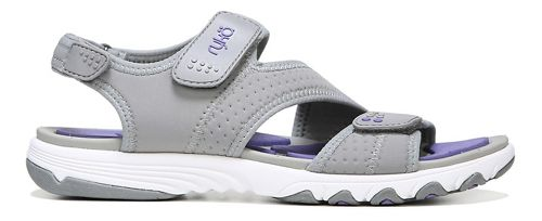 Womens Ryka Dominica Sandals Shoe - Grey/Purple 10