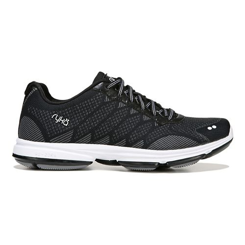 Womens Ryka Dominon Walking Shoe - Black/White 6.5