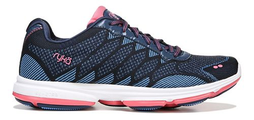 Womens Ryka Dominion Walking Shoe - Navy/Blue/Coral 10.5