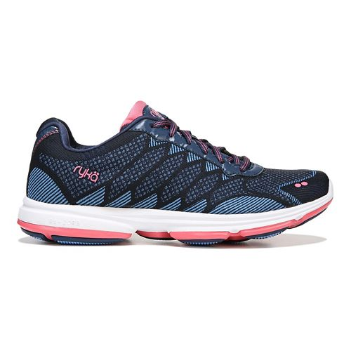 Womens Ryka Dominon Walking Shoe - Navy/Blue/Coral 6.5