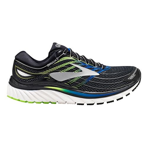 Mens Brooks Glycerin 15 Running Shoe - Black/Blue 12