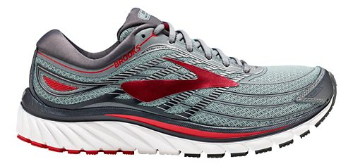 Mens Brooks Glycerin 15 Running Shoe - Grey/Red 12.5