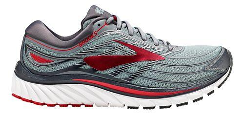 Mens Brooks Glycerin 15 Running Shoe - Grey/Red 8.5