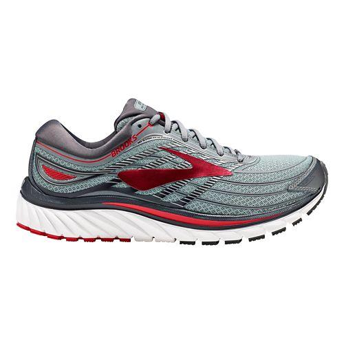 Mens Brooks Glycerin 15 Running Shoe - Grey/Red 9