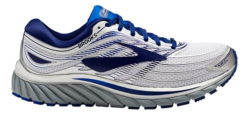 Mens Brooks Glycerin 15 Running Shoe - Silver/Blue 10