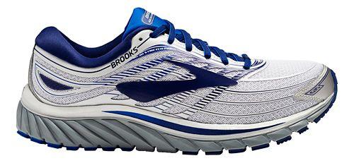 Mens Brooks Glycerin 15 Running Shoe - Silver/Blue 7.5