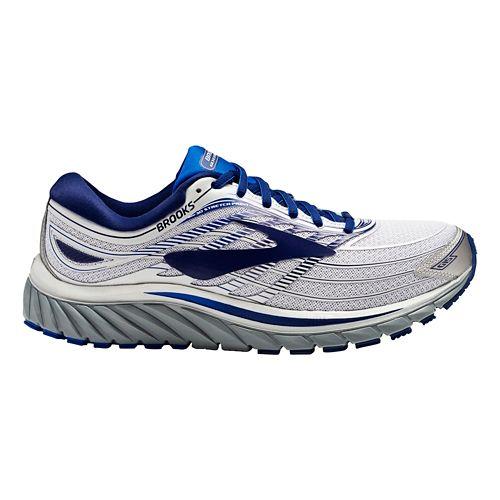 Mens Brooks Glycerin 15 Running Shoe - Silver/Blue 14