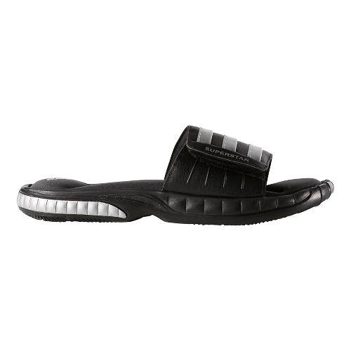 Mens adidas Superstar 3G Sandals Shoe - Black/Silver 13