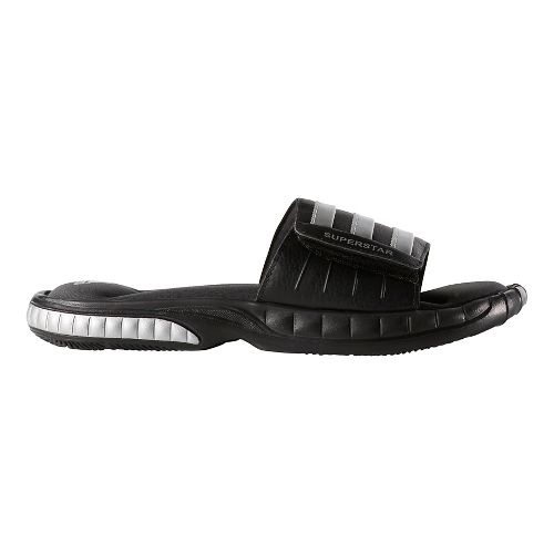 Mens adidas Superstar 3G Sandals Shoe - Black/Silver 6