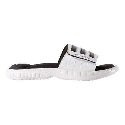 Mens adidas Superstar 3G Sandals Shoe - White/Black 11