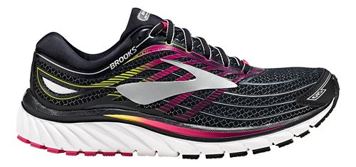 Womens Brooks Glycerin 15 Running Shoe - Black/Pink 6