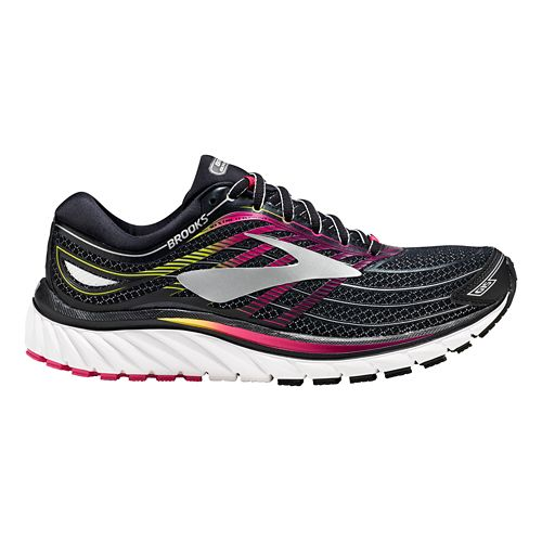 Womens Brooks Glycerin 15 Running Shoe - Black/Pink 10.5