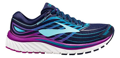 Womens Brooks Glycerin 15 Running Shoe - Navy/Purple 6.5