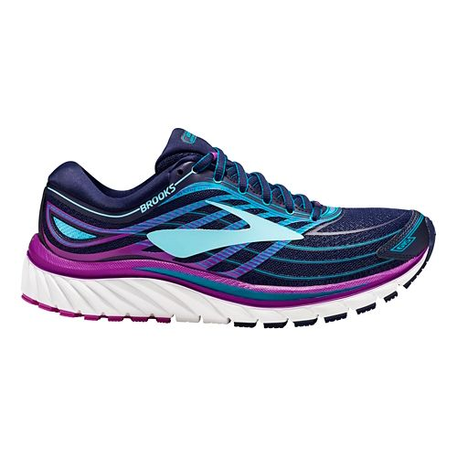Womens Brooks Glycerin 15 Running Shoe - Navy/Purple 10