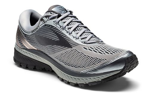 Mens Brooks Ghost 10 Running Shoe - Grey/Black 9