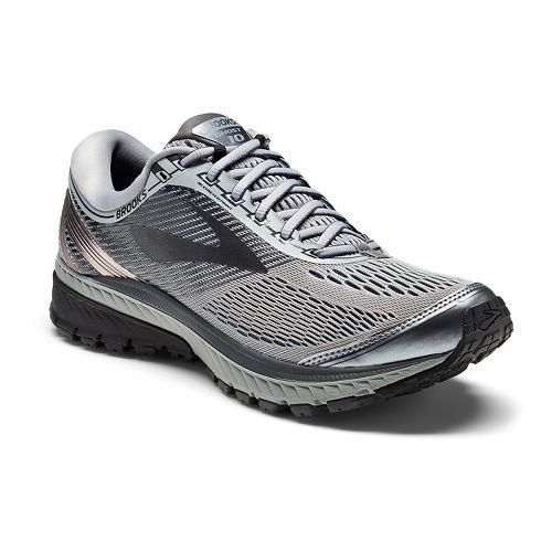 Mens Brooks Ghost 10 Running Shoe - Grey/Black 10.5