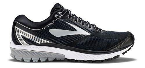 Mens Brooks Ghost 10 Running Shoe - Black/Silver 15