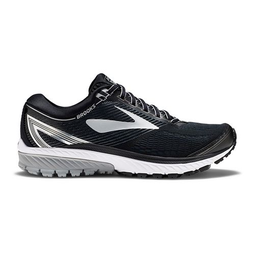 Mens Brooks Ghost 10 Running Shoe - Black/Silver 12