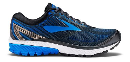 Mens Brooks Ghost 10 Running Shoe - Black/Blue 15
