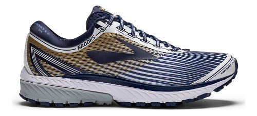 Mens Brooks Ghost 10 Running Shoe - Black/Silver 11.5