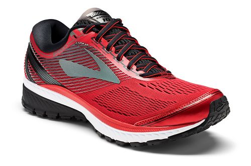 Mens Brooks Ghost 10 Running Shoe - Red/Black 12.5
