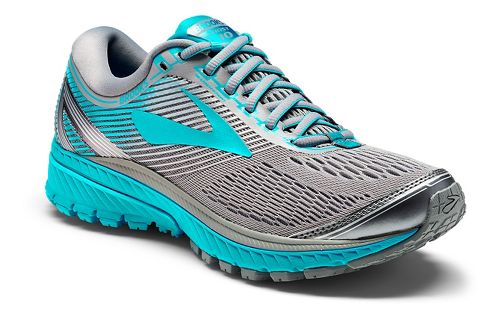 Womens Brooks Ghost 10 Running Shoe - Grey/Teal 6