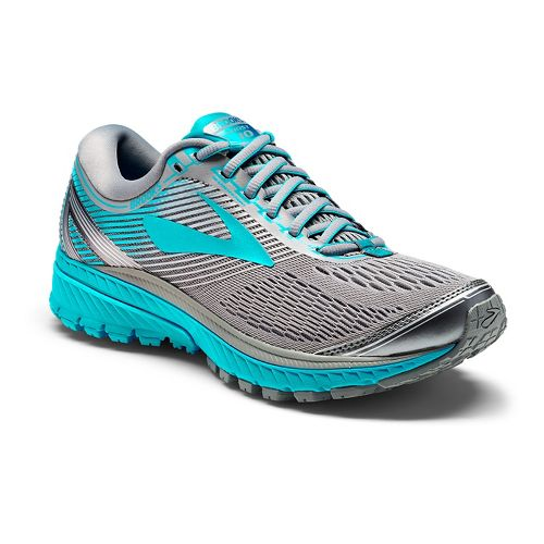 Womens Brooks Ghost 10 Running Shoe - Grey/Teal 10