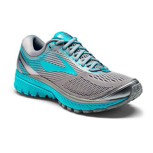 Womens Brooks Ghost 10 Running Shoe - Grey/Teal 6.5