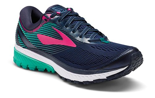 Womens Brooks Ghost 10 Running Shoe - Navy/Teal 9