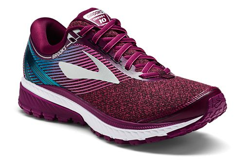 Womens Brooks Ghost 10 Running Shoe - Maroon/Teal 10.5