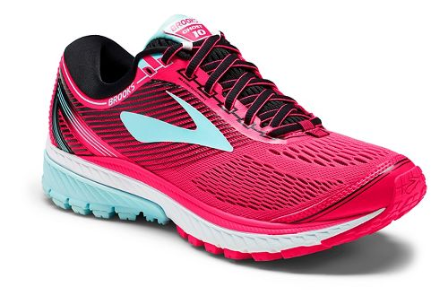 Womens Brooks Ghost 10 Running Shoe - Pink/Black 11.5