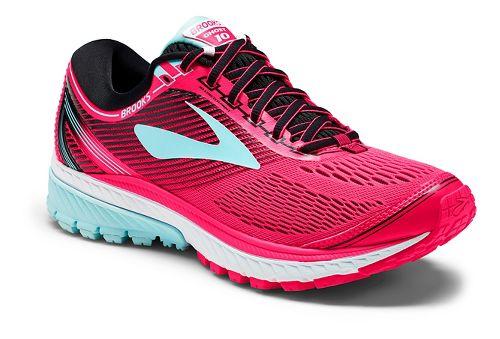 Womens Brooks Ghost 10 Running Shoe - Pink/Black 6