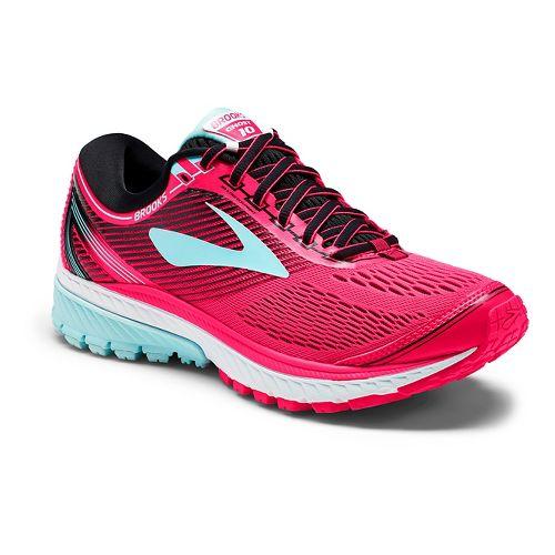 Womens Brooks Ghost 10 Running Shoe - Pink/Black 7