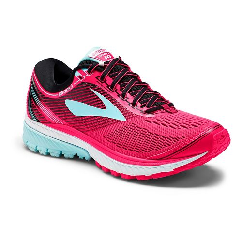 Womens Brooks Ghost 10 Running Shoe - Pink/Black 9.5