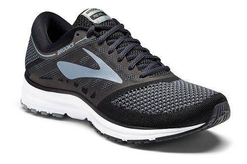 Mens Brooks Revel Running Shoe - White/Black 10.5