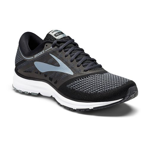 Mens Brooks Revel Running Shoe - White/Black 14