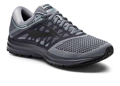 Mens Brooks Revel Running Shoe - Grey/Black 8.5