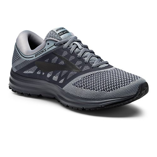 Mens Brooks Revel Running Shoe - Grey/Black 10