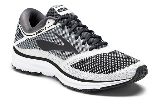 Mens Brooks Revel Running Shoe - White/Black 12.5