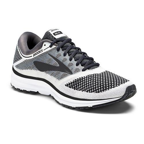 Mens Brooks Revel Running Shoe - White/Black 14
