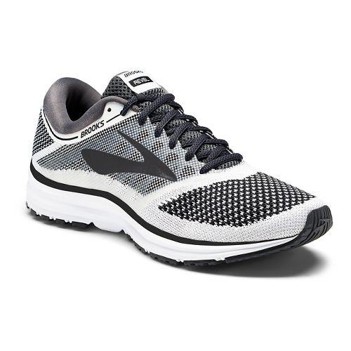 Mens Brooks Revel Running Shoe - White/Black 8.5